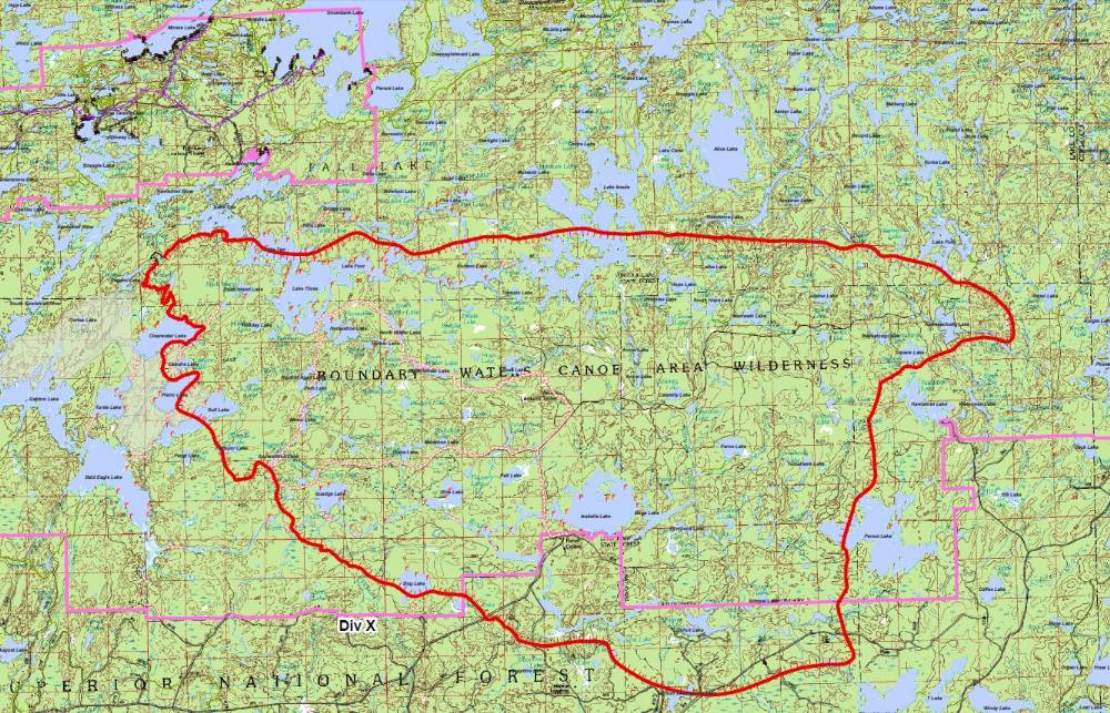 Boundary Waters Blogger Pagami Creek Fire Map Of Sept 13 At 7pm