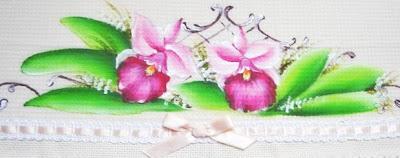 pintura em tecido pano de prato orquidea