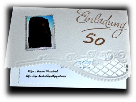 Ich habe cremefarbenen Fotokarton als C6 Karten zugeschnitten ...