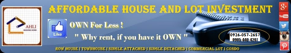 Affordable House and Lot Investment