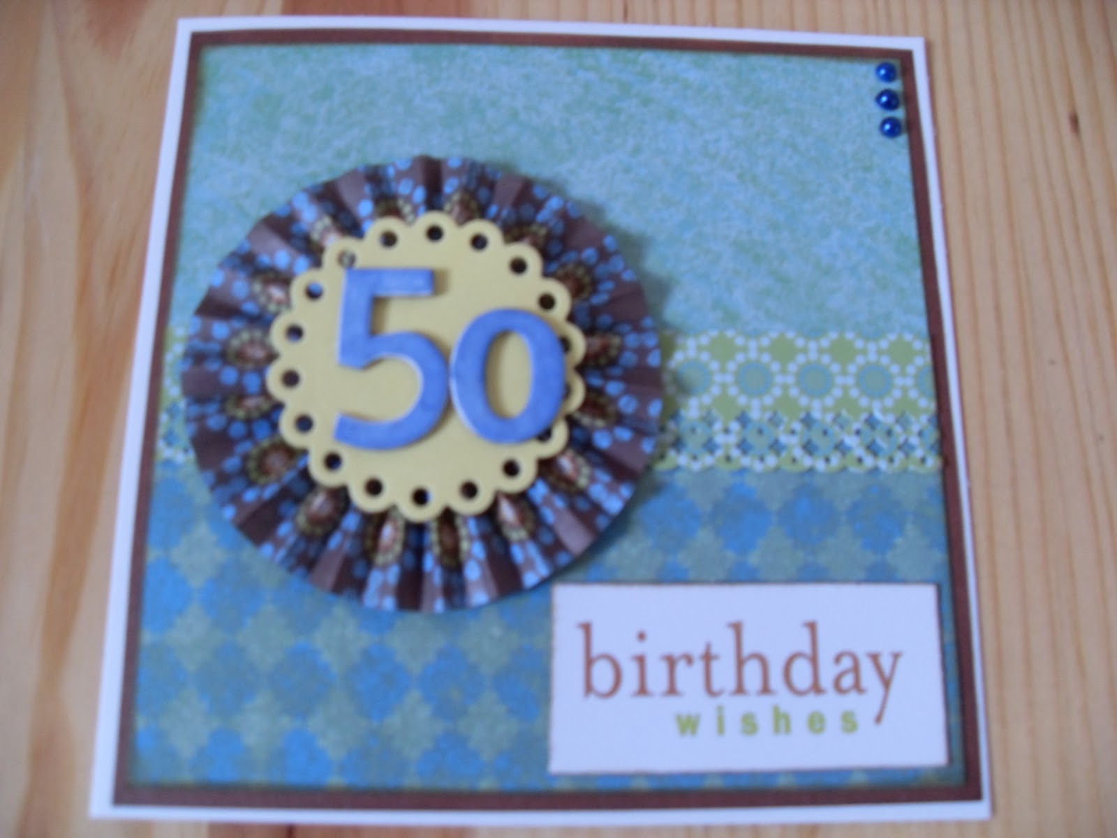 Men's 50th Birthday card: