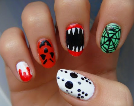 awesome scary halloween nail