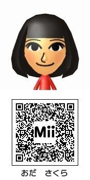 小田さくら(モーニング娘。)のMii QRコード トモダチコレクション新生活