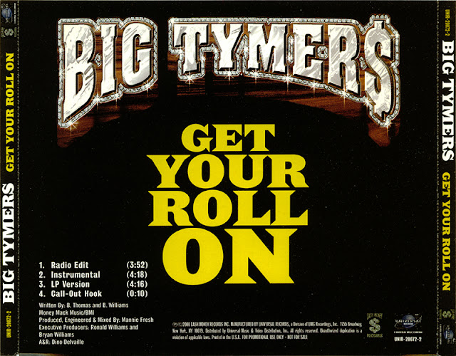 Big tymers get your roll on promo cd single 2000