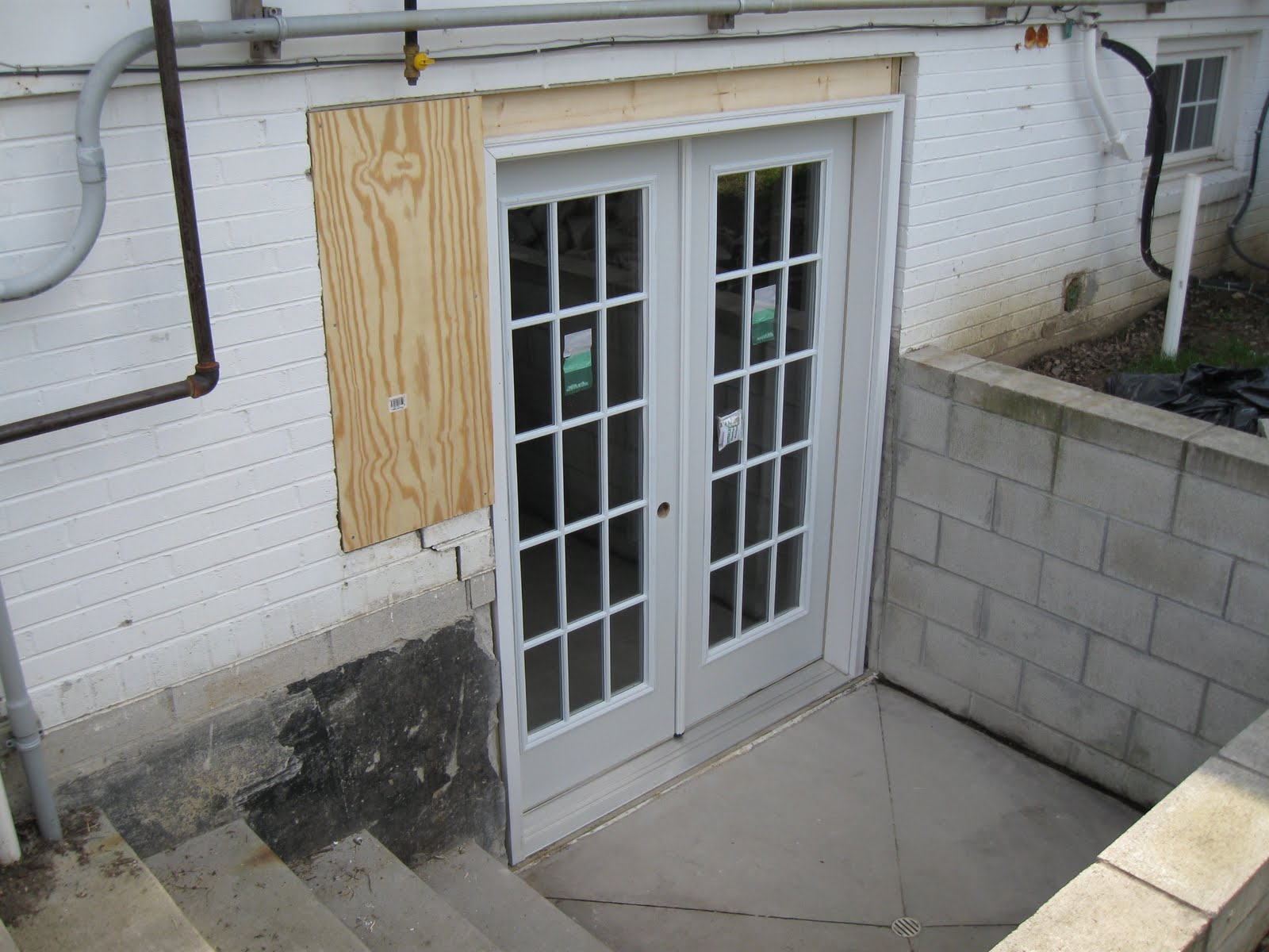 Eisenmann family woodworking for Installing exterior door on concrete