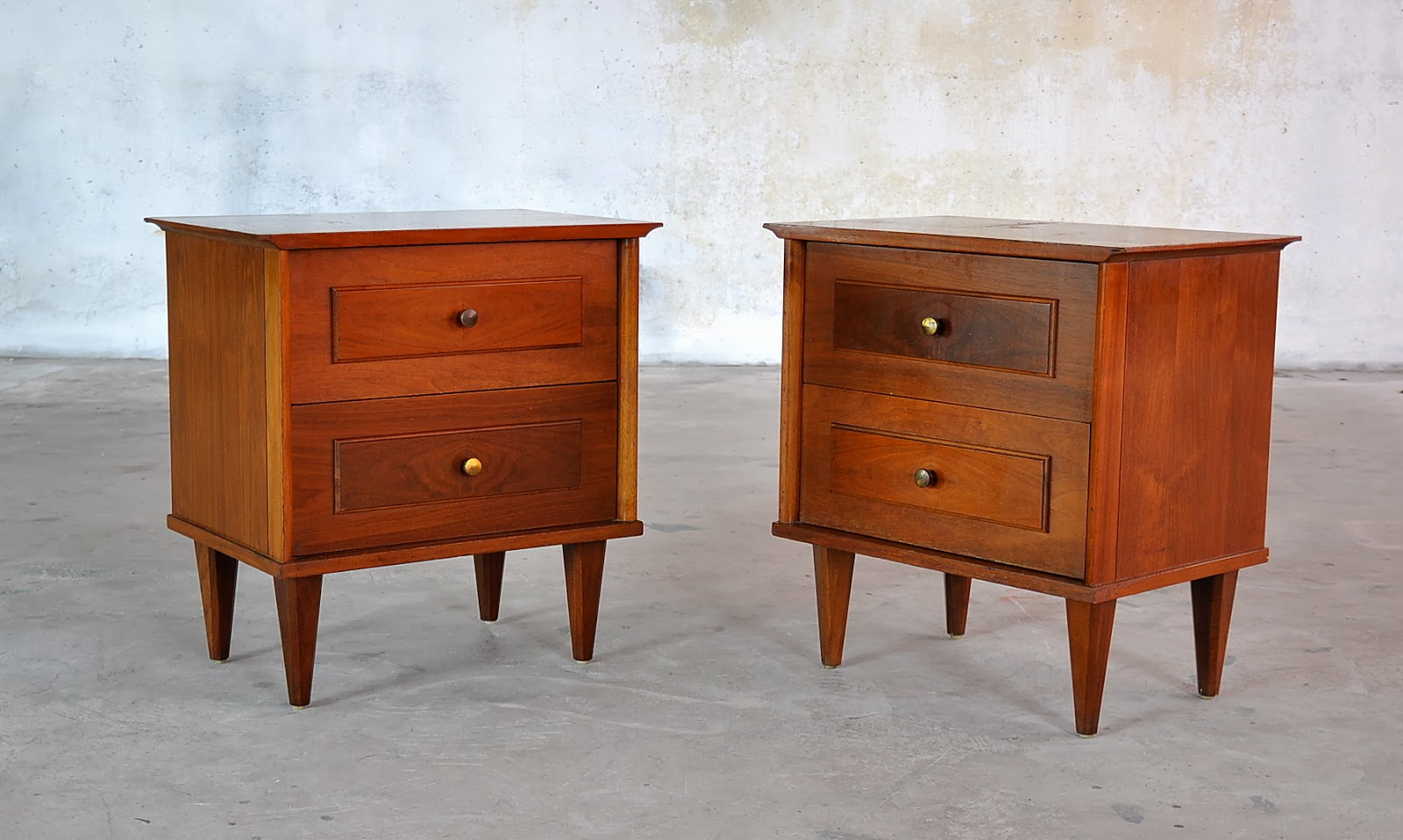 SELECT MODERN: Pair of Mid Century Nightstands, Side or