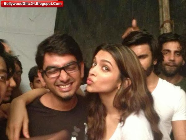 Deepika Padukone on a Set of Ram Leela