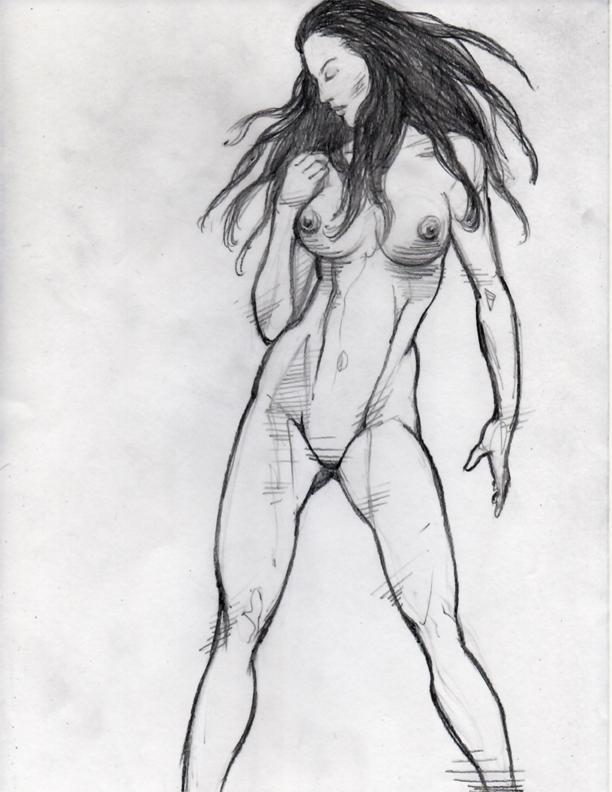 Female Anatomy Pencil Drawing