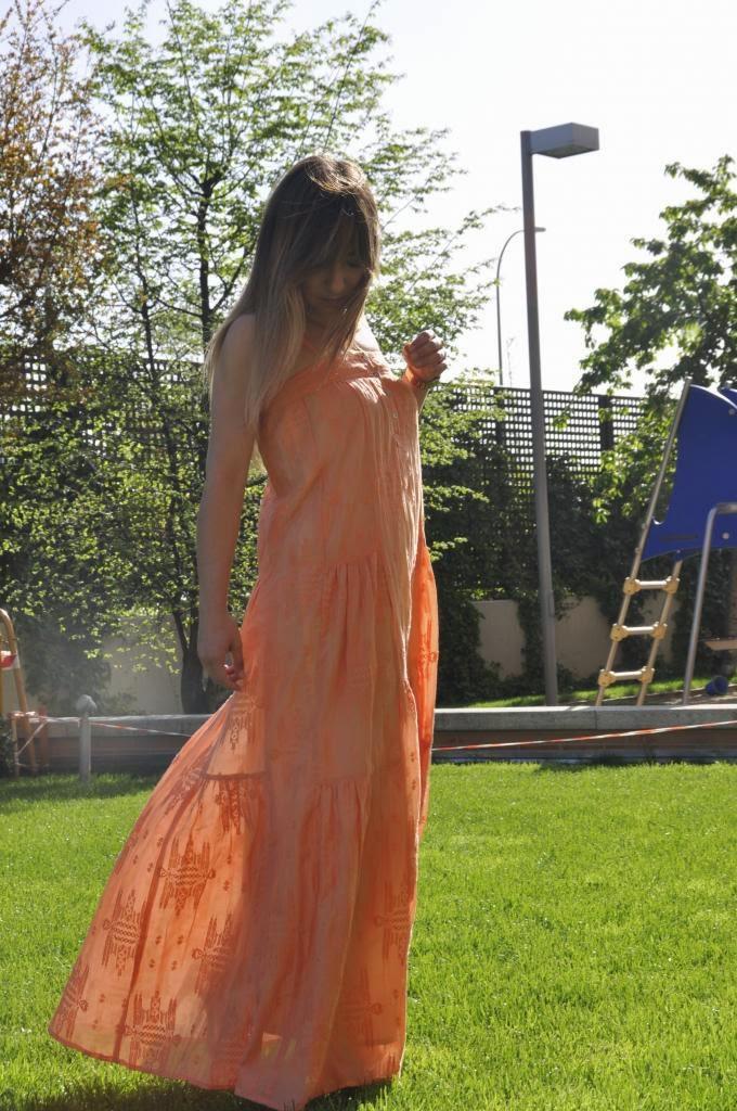 Vestido Mary,Magnolia Trendy,largo,naranja