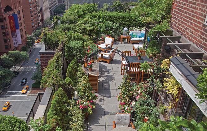 Rooftop gardens on Pinterest