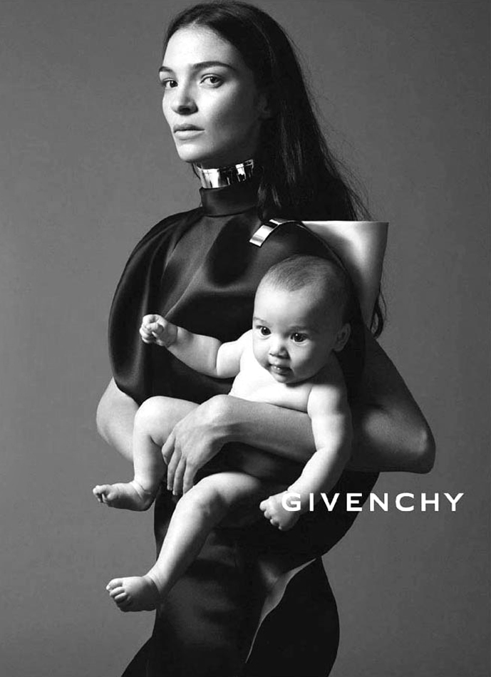 Mariacarla Boscono with Marialucas in Givenchy Spring/Summer 2013 campaign (photography: Mert & Marcus, styling: Carine Roitfeld) via fashioned by love british fashion blog