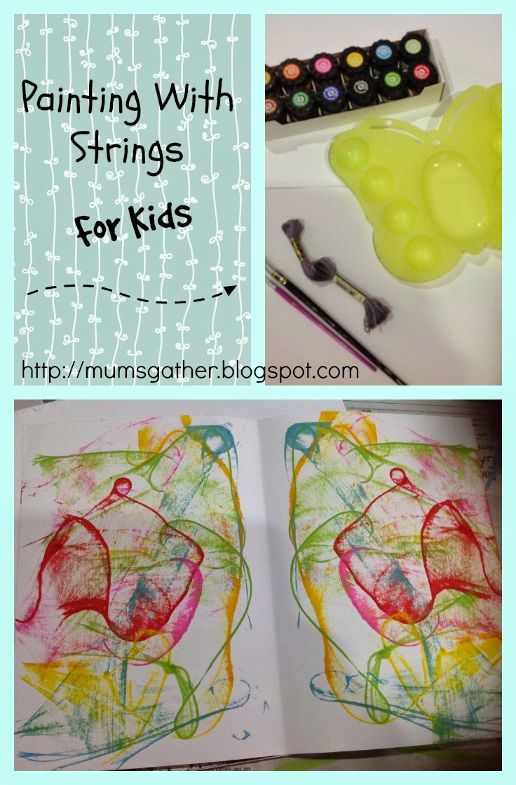 Painting With Strings For Kids
