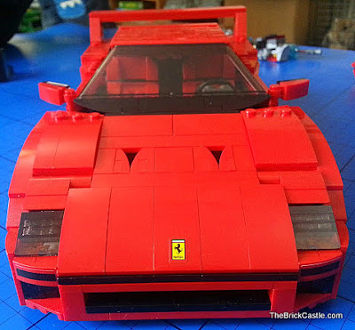 LEGO Ferrari F40 set 10248 front bonnet ferrari badge