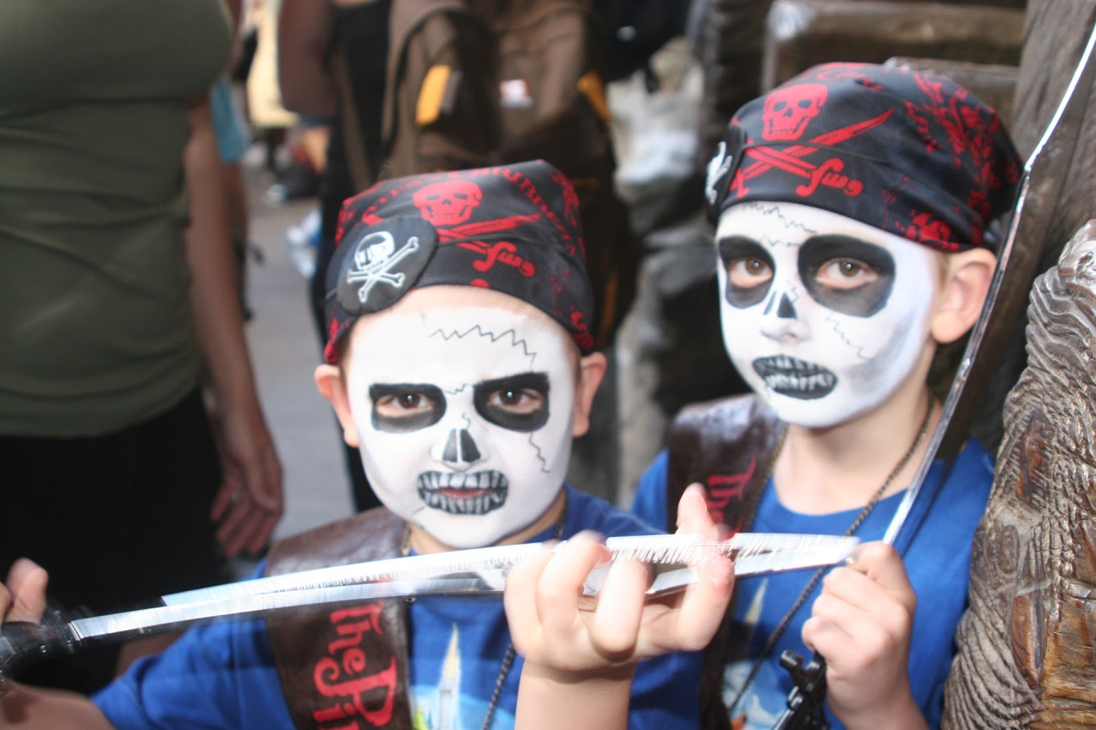 pirate costume, pirate makeup, Walt Disney World, Magic Kingdom, kids