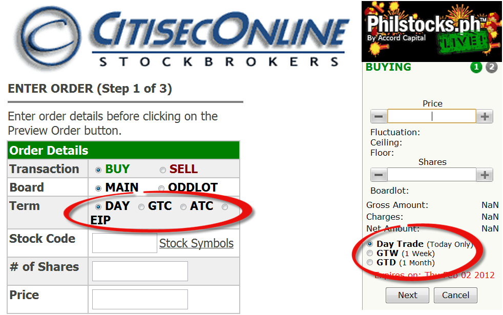 td how to buy stock place an order