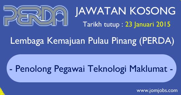 Jawatan Kosong PERDA 2015 Terkini - Lembaga Kemajuan Pulau Pinang