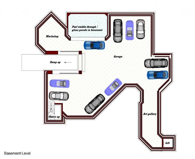 Floor plan of the basement level