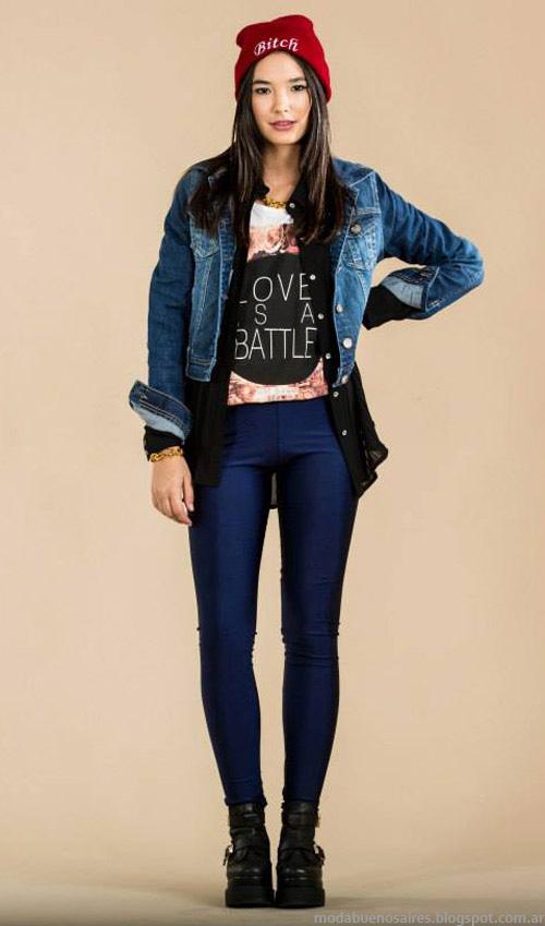 Camperas de jeans invierno 2014 Scombro Moda invierno 2014