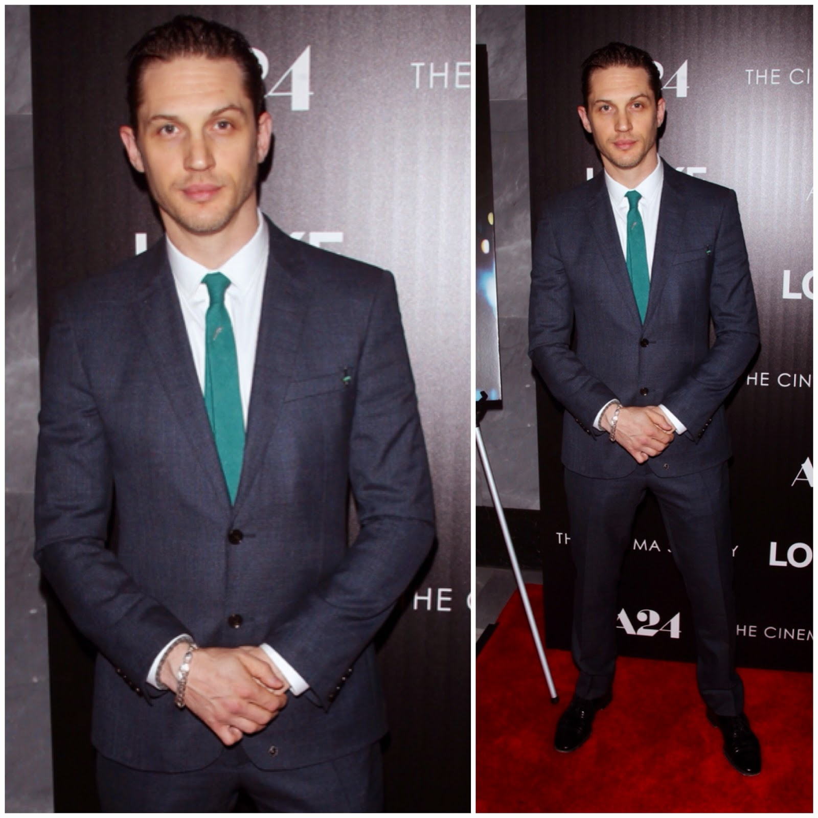 Tom Hardy in Burberry - the A24 and The Cinema Society premiere of 'Locke' at The Paley Center for Media on April 22, 2014 in New York City
