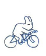 Rabbit ride my bike.