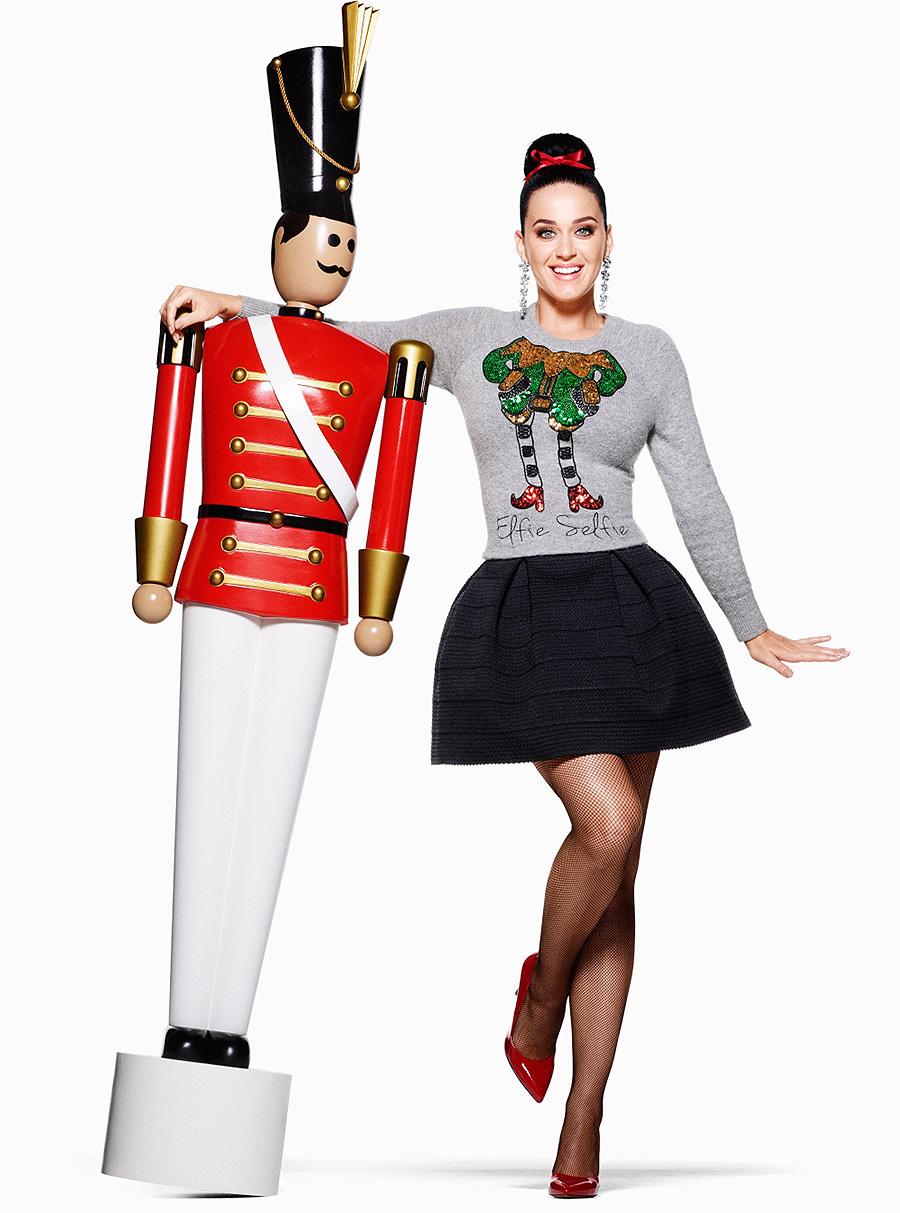 Katy Perry na campanha de Natal das lojas H&M!