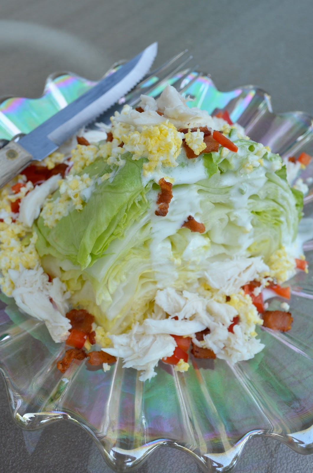 Iron Stef Wedge Salad With Chili Lime Ranch And Crab