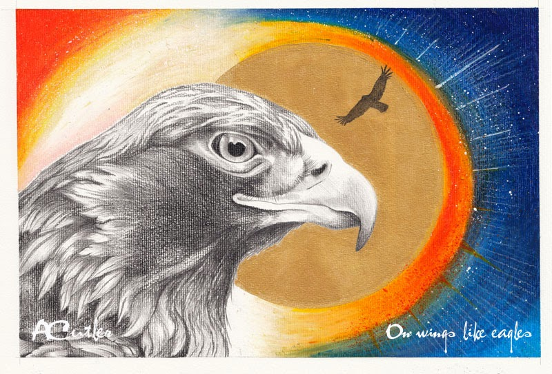 Eagle drawing - Isaiah 40:31