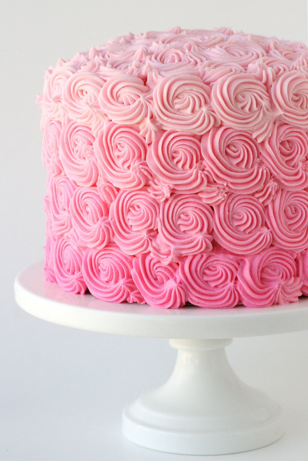 Pink Ombre Swirl Cake   Glorious Treats