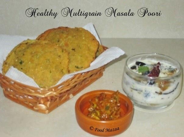 healthy multigrain masala poori
