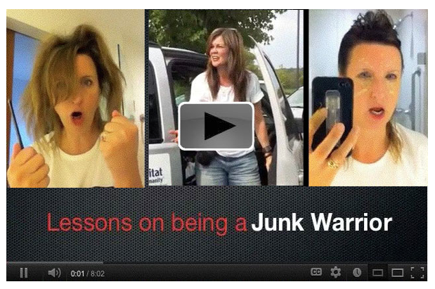 Lessons on being a Junk Warrior by Pretty Handy Girl via Funky Junk Interiors