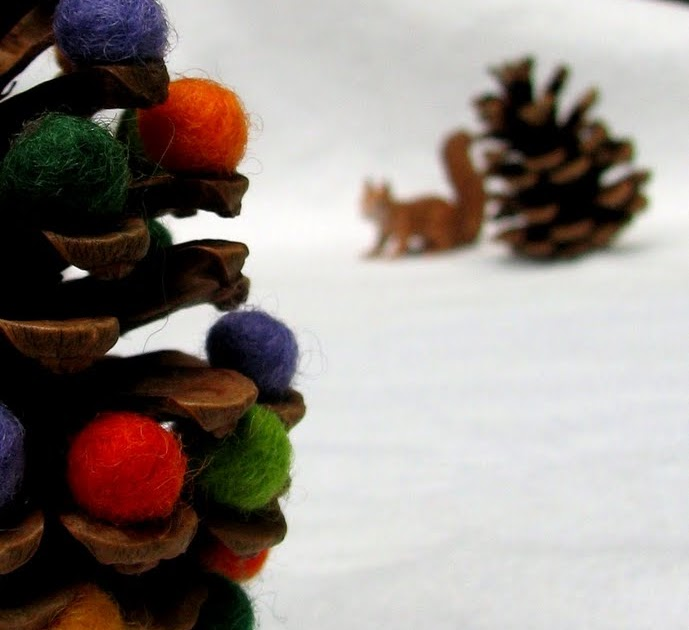 The Wool Acorn Fall Pinecone Trees