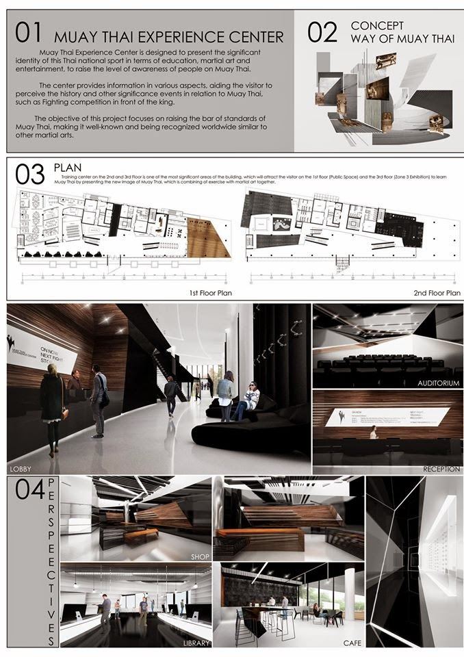 And Mr Sasawat Khoosuwan Muay Thai Experience Center On 12 Finalist From Thesis Of The Year Award Thailand Interior Design Association TIDA
