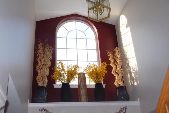 Foyer Window Ledge Decorating Ideas