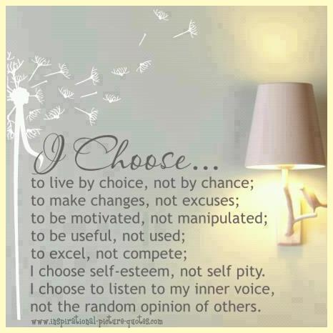 i choose to live by choice inspirational picture quotes