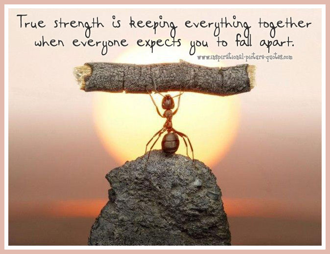 true strength inspirational quote inspirational picture