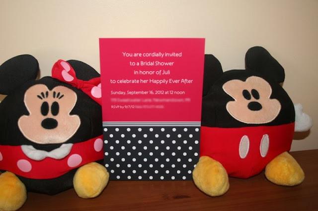 Mickey Mouse Bridal Shower - Polka Dot Invites