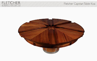 The Expanding table Fletcher Capstan Table Koa