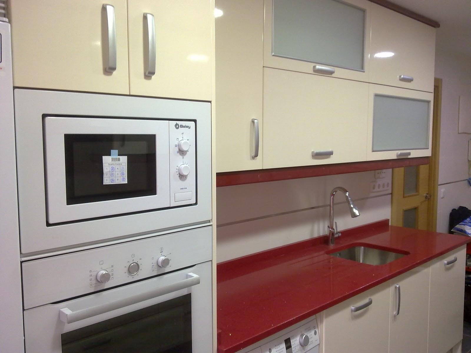 Laminado alto brillo crema remates granate cocinas ayz for Remates de muebles de cocina
