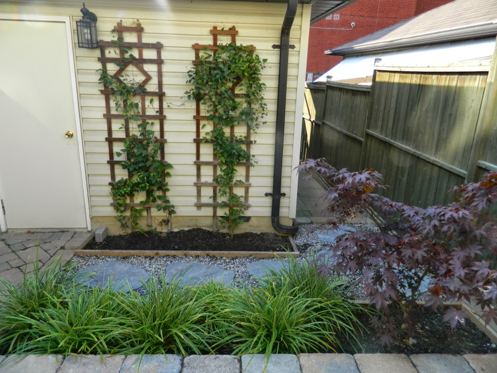 New Leslieville garden renovation design after by Paul Jung Gardening Services Toronto