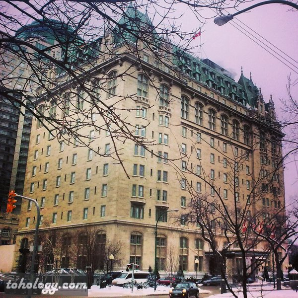 Fort Garry Hotel on Broadway in Winnipeg Canada