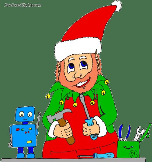 Christmas Elf - Free Clip Art | FunFreeClipArt.com