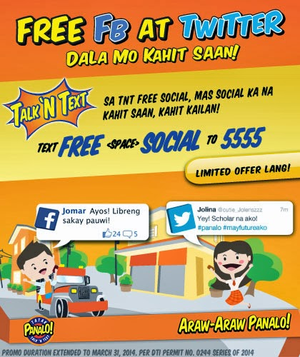 Talk N Text Free Facebook and Twitter with TNT FREE SOCIAL