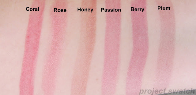 Fresh Sugar Tinted Lip Treatment Swatches - coral rose honey passion berry plum
