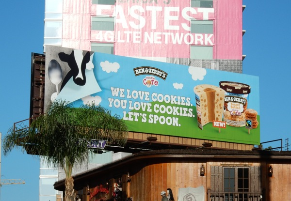 Ben Jerry's ice-cream Lets spoon billboard