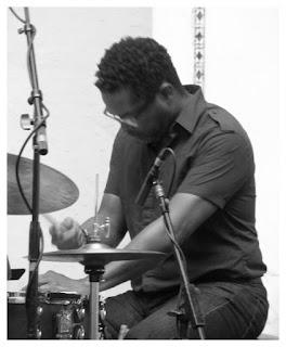 Gerald Cleaver - Drums - Ben Waltzer - Chicago Jazz Festival 2015   Photograph by Tom Bowser