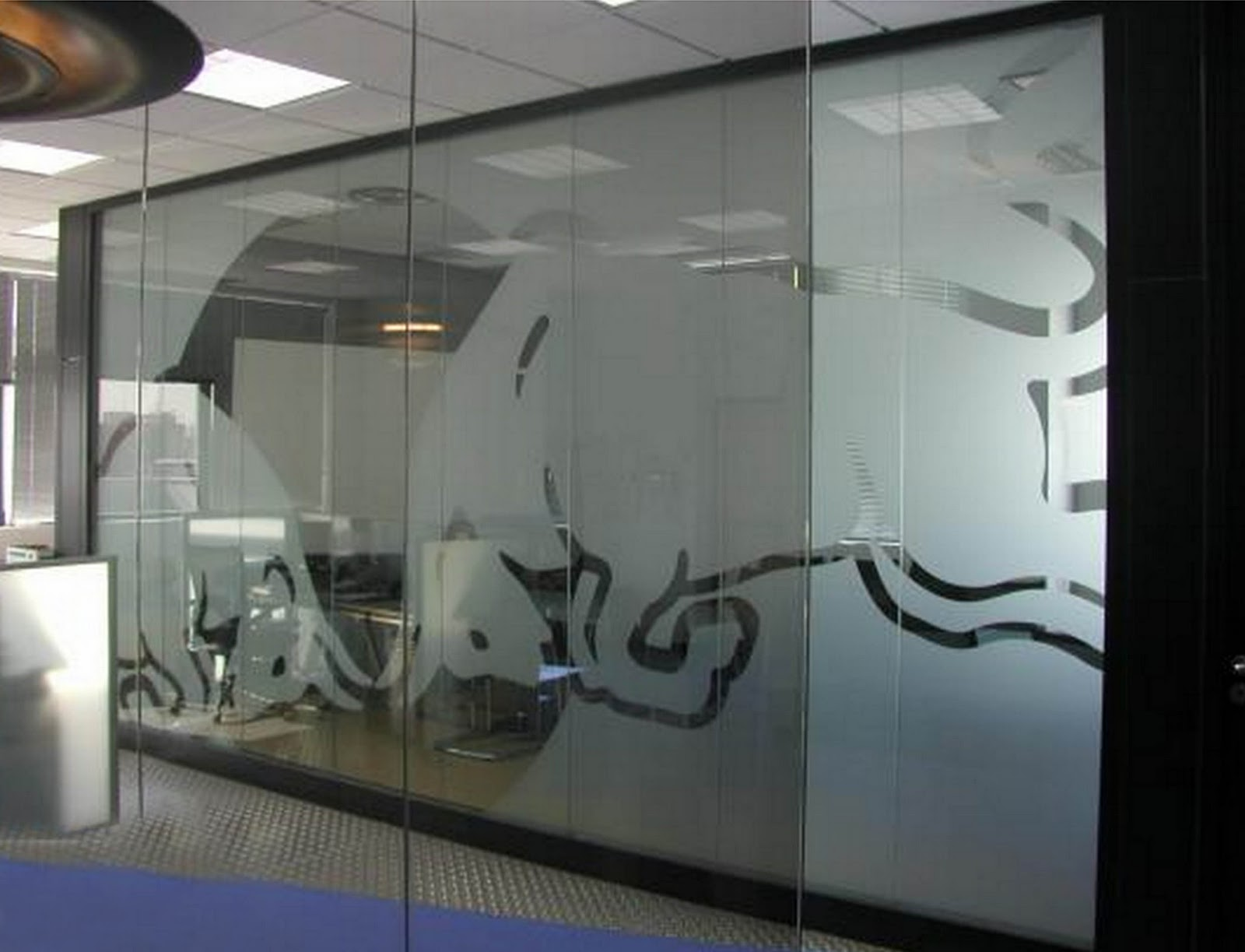 Agencia wtc vinilo arenado en empresas - Vinilo decorativo cristal ...