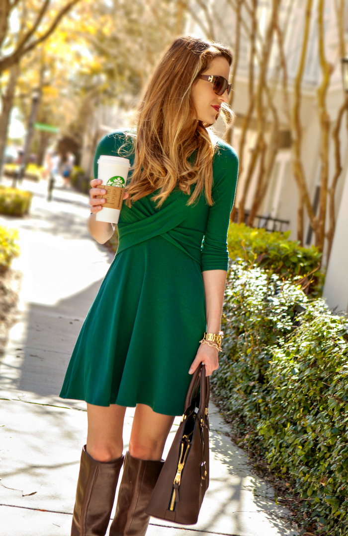 Green Double Cross Dress from The Mint Julep