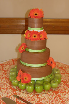 4-tier round chocolate buttercream