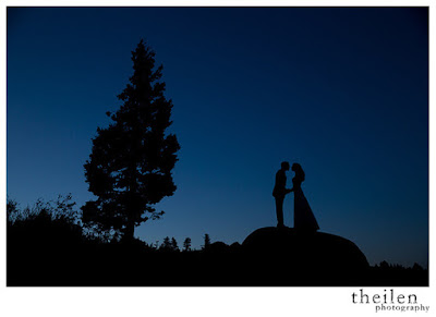 Lake Tahoe Wedding Day Silhouette Photo at Kehlet Mansion l Meeks Bay Resort l Theilen Photography l Take the Cake Event Planning