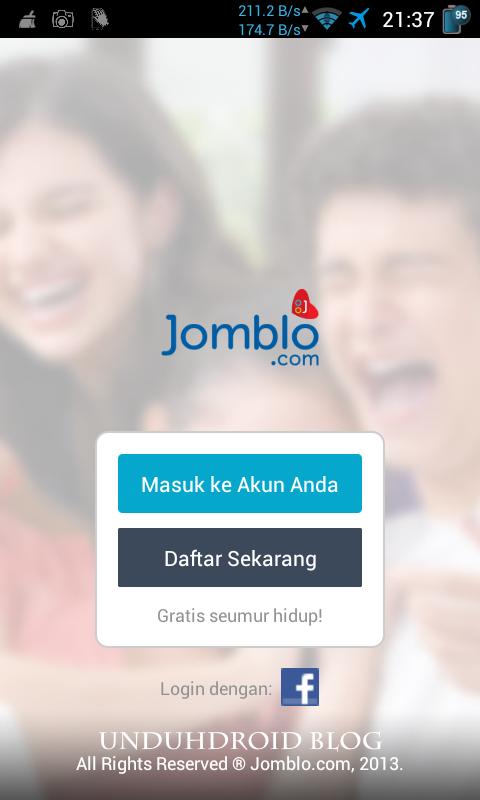 Menu Pertama Aplikasi Jomblo